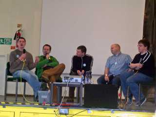 Joseph Lidster, Gary Russell, Simon Guerrier, David Darlington and Ian Farrington