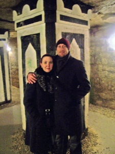 Kerrie and Garth in the Catacombs